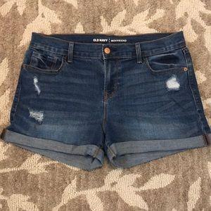 Cute Old Navy denim jean shorts boyfriend cuff 6